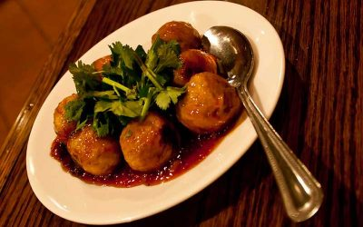 Porky Down's lemon pork meatballs