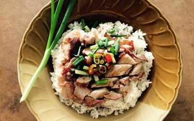 Porky Down's pork with sweet and sour onion sauce