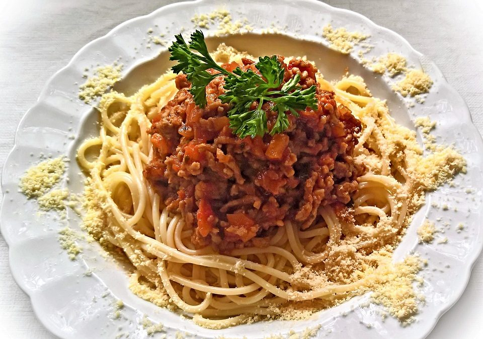 Porky Down's bacon bolognese